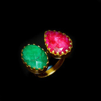 Ruby And Emerald Best Gift For Her Wife Birthday