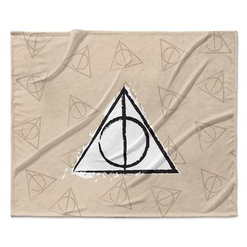"Jackie Rose ""Hollows"" Tan Beige Fleece Throw Blanket"