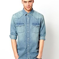 Esprit Denim Shirt at asos.com