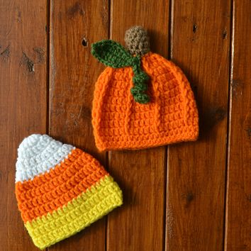 Newborn Pumpkin Hat Newborn Photo Prop Baby's First Halloween