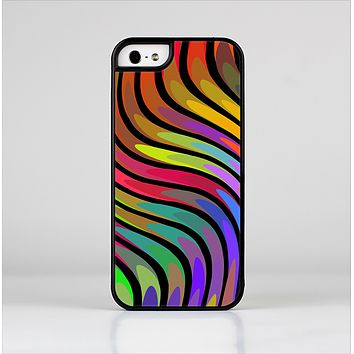 The Swirly Color Change Lines Skin-Sert Case for the Apple iPhone 5/5s