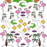 Nail Pop Sunshine State Decals Multi One