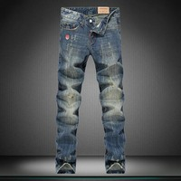 Slim Metal Men Korean Jeans [164468523037]
