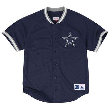 Dallas Cowboys Vintage Throwback Mesh Button Front Jersey a1acfae15