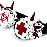 Bloody Medical Spike Goggles Bio Hazard Cosplay Welder Glasses