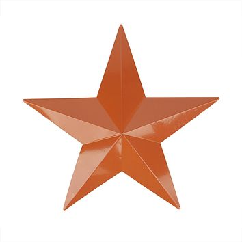 "15"" Light Brown Country Rustic Star Indoor/Outdoor Wall Decoration"