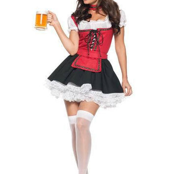 Waitress Cosplay Anime Cosplay Apparel Holloween Costume [9211523076]