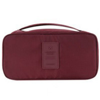 Burgundy Water Proof Cosmetic Portable Bag