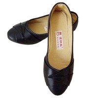 Plane Women Pointed Casual Flat Low-cut Shoes   black