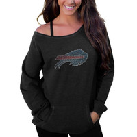 Buffalo Bills Women's Sideliner II Crew Sweatshirt – Black