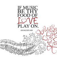 music and love shakespeare quote Art Print by studiomarshallarts