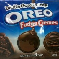 Nabisco Oreo Fudge Cremes Double Chocolate Fudge Sandwich Cookies, 11.3 Ounce