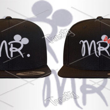 Mr Mrs Mickey Minnie Mouse Snapback Snapbacks Hats Caps Hat Cap Couple Snapback Matching Snapback Love Relationship Snapback
