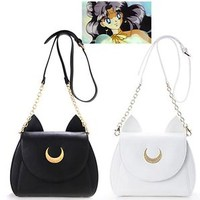 Sailor Moon Samantha Vega Luna 20th Anniversary PU Leather Cosplay bag