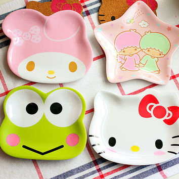 HELLO KITTY  frog cute appetizers dish star shape cat  plate dog bowl cake display dish small dish