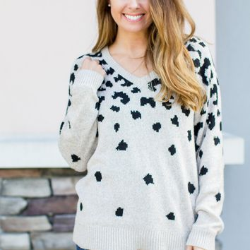 Leopard Ambitions Sweater