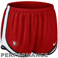 Nike San Francisco 49ers Women's Tempo Performance Running Shorts - Scarlet