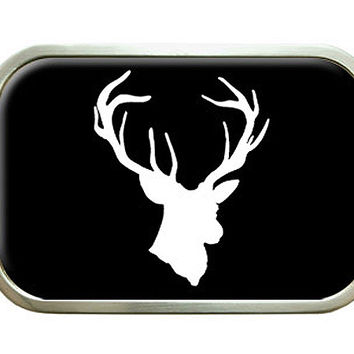 Deer Head - Hunting - Black Belt Buckle