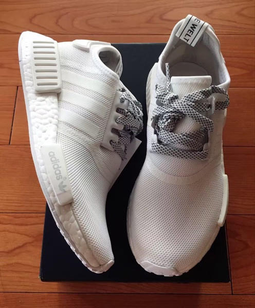 4d9e79866 Adidas NMD R1 3M Reflective shoelace Fashion Trending Running Sports Shoes