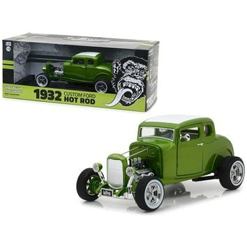 1932 Ford Custom Hot Rod Green \Gas Monkey Garage\ (2012 TV Series) 1-18 Diecast Car Model by Greenlight