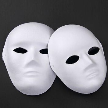 Lot of 40 Unpainted Blank Face Masquerade Mask Women Men DIY Drawing
