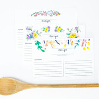Pack of Recipe Cards - Pack of 10 or Pack of 25, bridal shower, gift for chef, thankyou gift, shower gift, joy of cooking
