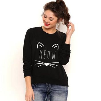 Meow pullover fashion sweater