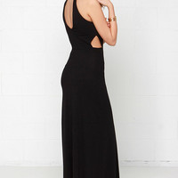 RVCA Outer Reaches Black Maxi Dress