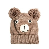 Pull&Bear Knitted Bear Hat