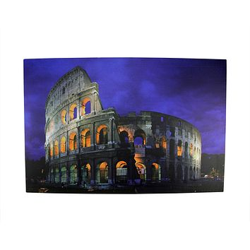 """LED Lighted Famous Roman Colosseum Italy Canvas Wall Art 15.75"""" x 23.5"""""""