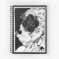 'La Dispute // Kiss' Spiral Notebook by tumblrian