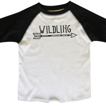 Wildling BOYS OR GIRLS BASEBALL 3/4 SLEEVE RAGLAN - VERY SOFT TRENDY SHIRT B356