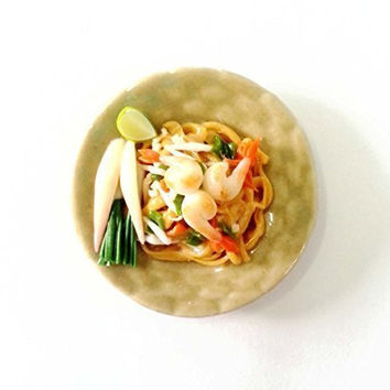 Kantiya Miniatures Dollhouse Barbie Food : Realistic Thai Food Collection : Padthai , 2 Inches approx.