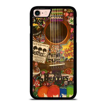 THE BEATLES GUITAR COLLAGE iPhone 8 Case