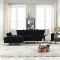 Modern Velvet Large Sectional Sofa - Walmart.com