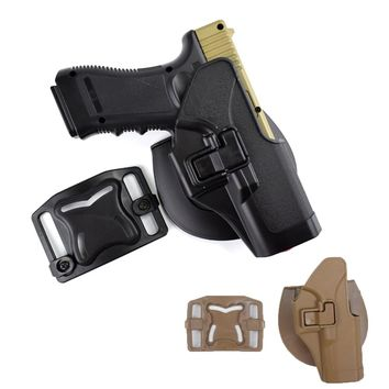 Tactical Combat Outdoor Belt GLOCK Holster for Glock 17 19 22 23 31 32 Black Tan