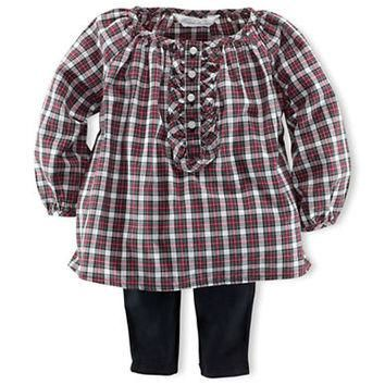 Ralph Lauren Childrenswear Baby Girls Plaid Tunic and Leggings Set