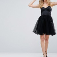 Chi Chi London Sweetheart Tulle Mini Dress With Corset Detail at asos.com