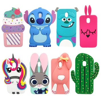 For Samsung J3 2017 Case Cute 3D Unicorn Minnie Stitch Soft Silicone Phone Protective Cover Case For Samsung Galaxy J3 2017 J330