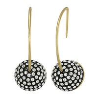 Marc by Marc Jacobs Small Pave Cabochon Hoop Earrings