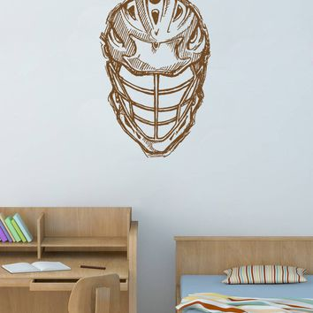 ik875 Wall Decal Sticker lacrosse helmet sport room teens kids teen bedroom