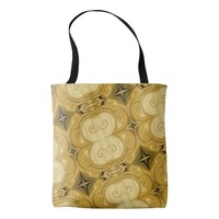 Magic Ornament Gold Diagonal Pattern Tote Bag