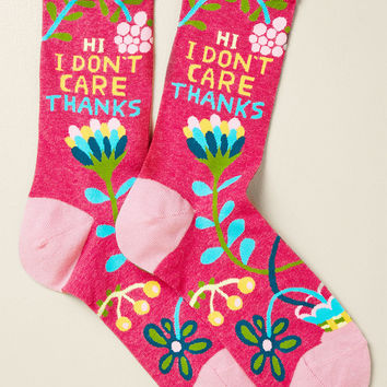 Hi, I Don't Care, Thanks Socks