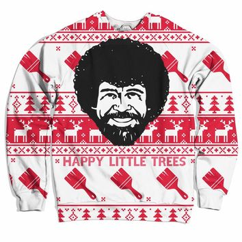 Happy Little Trees Christmas Sweater