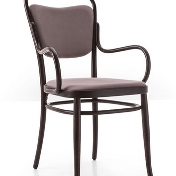 Gebruder Thonet Vienna 144 Closed Back Bentwood Armchair (Upholstered) by GTV
