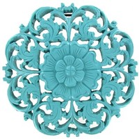 Large Turquoise Round Wall Plaque | Shop Hobby Lobby