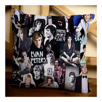 Evan Peters Collage Inspired Design Custom Pillow Case for Home Decor or Bedroom in 16x16 & 18x18 inches