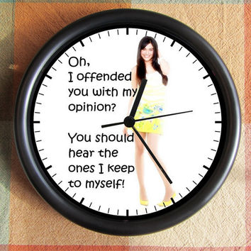 Oh I offended you with my opinion You should hear the ones I keep to myself 10 inch Resin Wall Clock