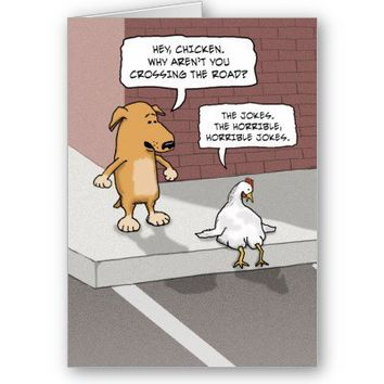 Funny Birthday Card Dog And Chicken From Zazzle