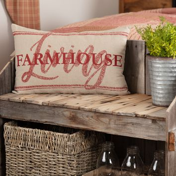 Sawyer Mill Red Farmhouse Living Pillow